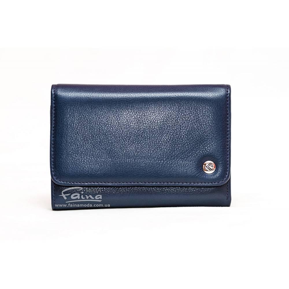 Женский кошелек кожаный синий  Eminsa 2055-12-19