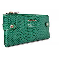 Женский кошелек кожаный зелёный Eminsa