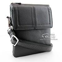 Мужская сумка кожаная чёрная  Karya 0365-45