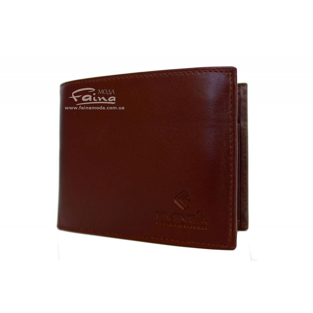 Мужское портмоне кожаное коричневое Eminsa 1014-19-7