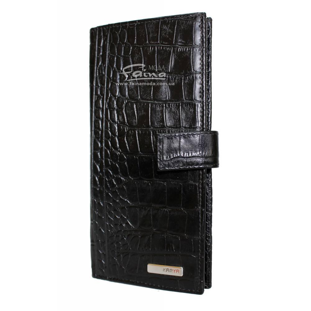 Мужское портмоне кожаное черное Karya 1093-53
