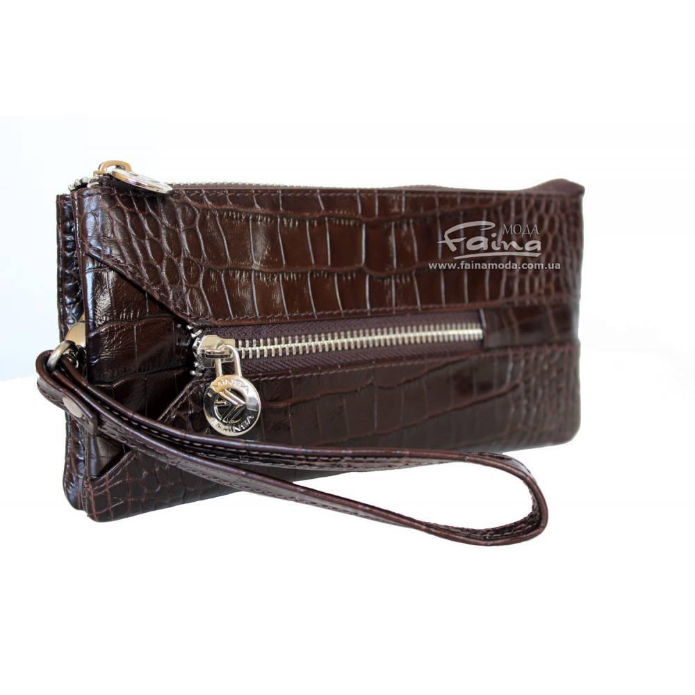 Женский кошелек кожаный коричневый Eminsa 2123-4-3
