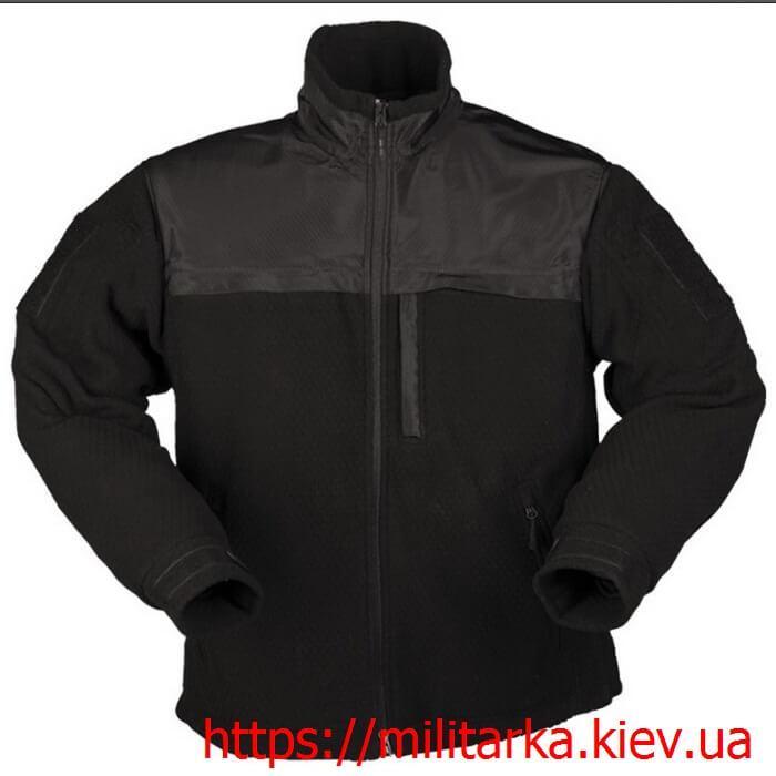 Куртка флисовая Mil-Tec Hextac black