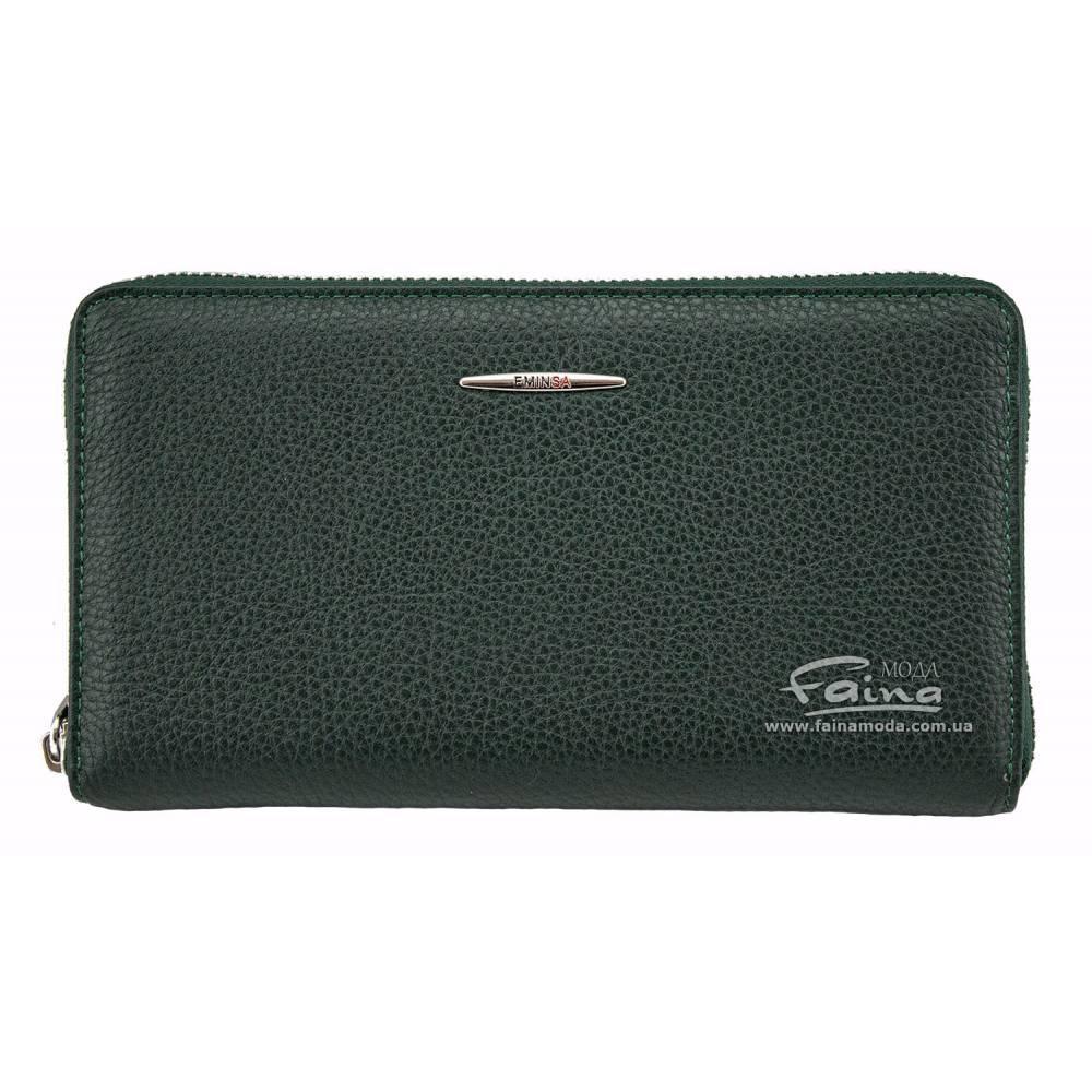 Женский клатч кожаный зеленый Eminsa 2152-18-16