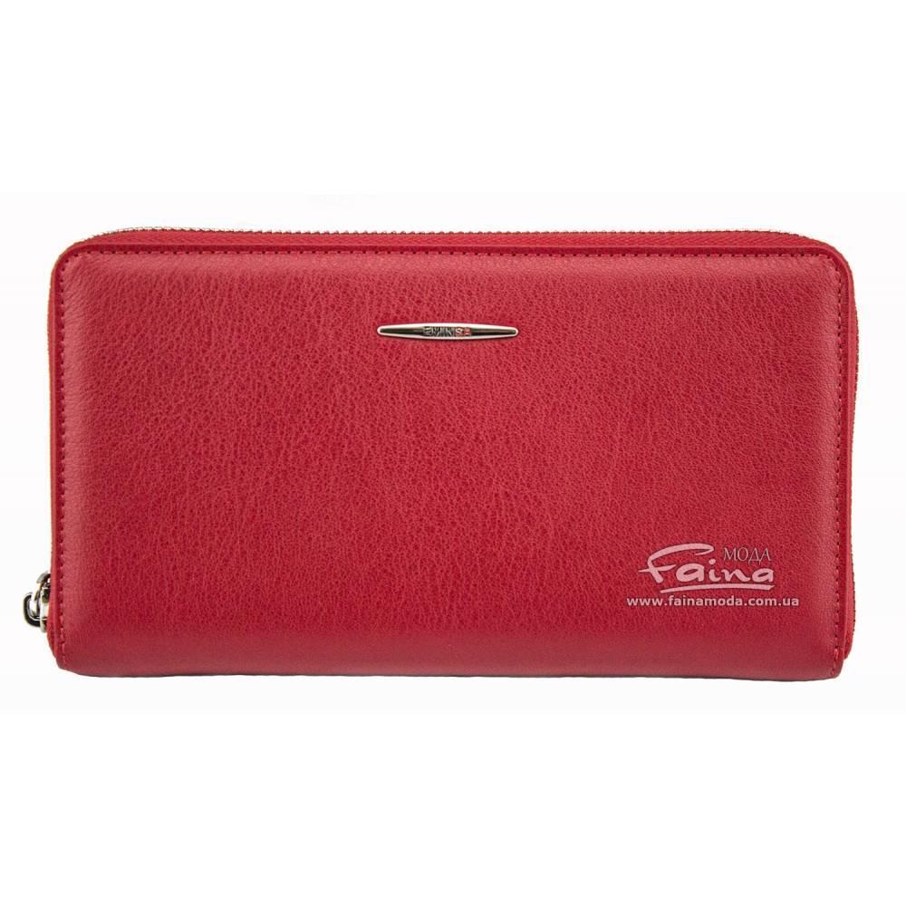 Женский клатч кожаный красный  Eminsa 2152-12-5