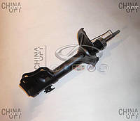 Амортизатор передний, левый / правый, шток D=14mm, газомасляный, Geely MK Cross, 1014001708, OPTIMAL