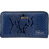 Женский кошелек кожаный синий  Butun 639-008-034