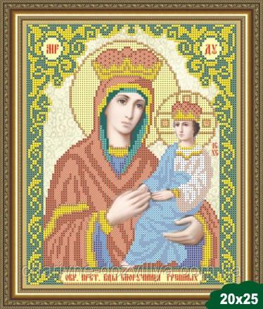 """Схема для вышивки бисером икона """"Богородица Споручница Грешных"""""""