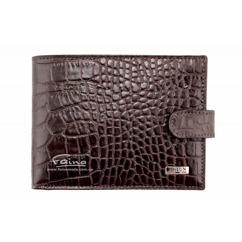 Мужской кошелек кожаный коричневый Butun 208-002-004
