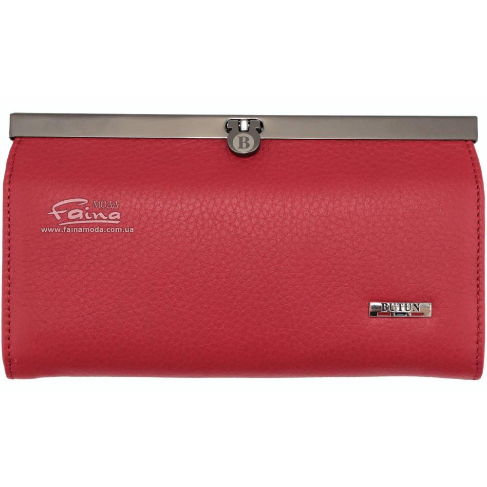 Женский кошелек кожаный красный Butun 5005-004-006