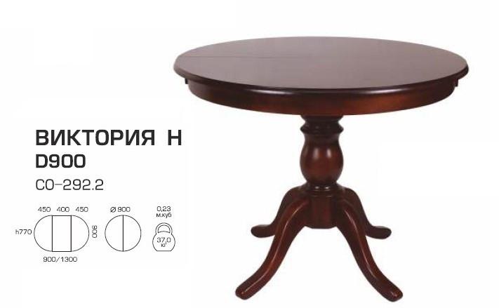 Стол раскладной Виктория Н шпон 900(1300)*900 круглый