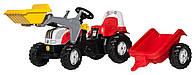 Трактор с ковшом и прицепом красный Rolly Toys 23936, фото 1