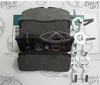 Колодки тормозные передние (с ABS) Geely CK2 3501190005 Китай [аftermarket]