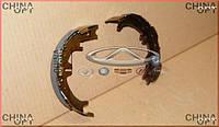 Колодки ручника, ручного тормоза (на одно колесо) Chery Tiggo [2.4, -2010г.,MT] T11-3502170 Китай [аftermarket]