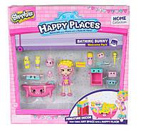 Игровой набор с куклой HAPPY PLACES S1 ВАННАЯ КОМНАТА БАБЛИ ГАМ кукла, 13 петкинсов, 2 платформы (56327)