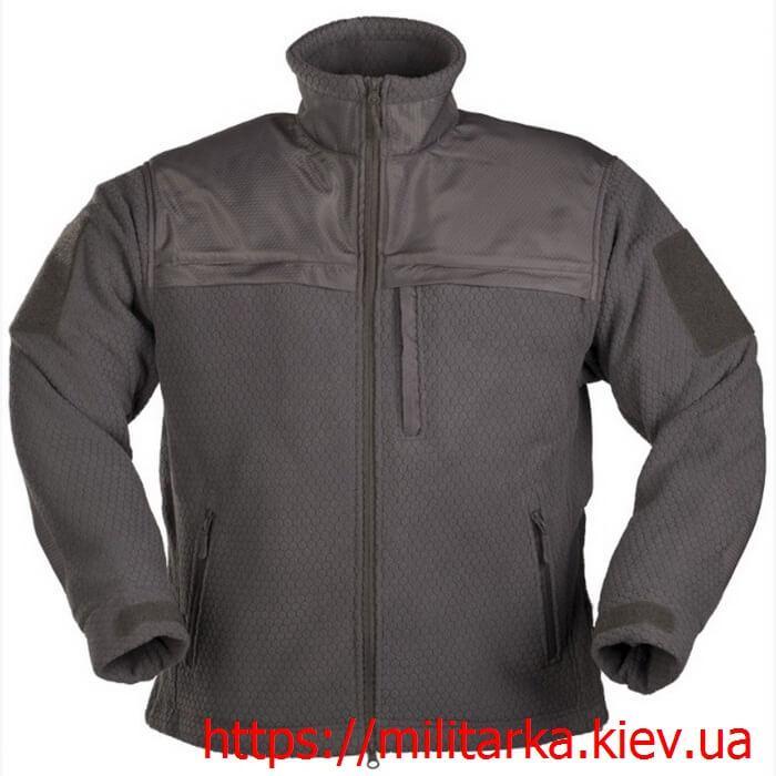 Куртка флисовая Mil-Tec Hextac gray