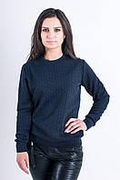 Женская трикотажная кофточка темно-синего цвета, фото 1