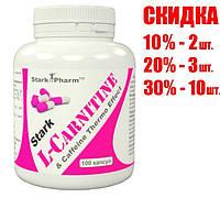 Stark L-Carnitine & Caffeine Complex 560 мг 100 капсул Stark Pharm (кофеин, карнитин)