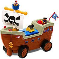 Детская машинка-каталка  «Кораблик» Little Tikes - США - есть отделение для хранения игрушек под сиденьем