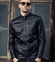 Мужская кожаная куртка. Модель 61143