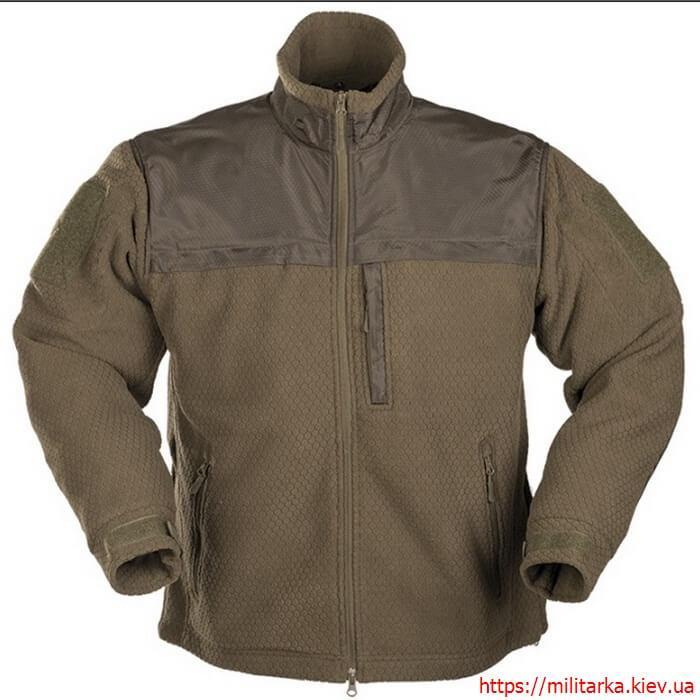 Куртка флисовая Mil-Tec Hextac olive