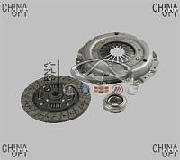 Комплект сцепления, корзина + диск + выжимной, BYD F3 [1.6, до 2010г.], BF3CLA, Valeo PHC