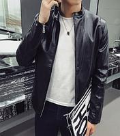 Мужская кожаная куртка. Модель 61145