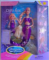 Кукла Барби Русалочка с маленькой куколкой 20978 Defa Китай