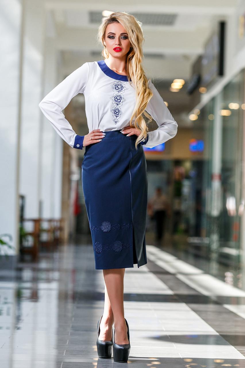 7abcf0d5ddb Оригинальная Белая Блуза с Гипюровой Спинкой М-2XL - Ukraine In Trend - 100%
