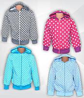 Куртка трикотажная детская с капюшоном. Кофта с капюшоном для девочки
