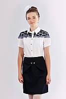 Школьная подростковая блуза для девочки короткий рукав