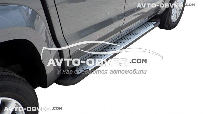 Боковые подножки для VolksWagen Amarok 2011-2016 (в стиле BMW X5 Turkey)