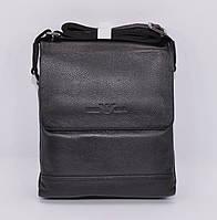 Сумка мужская кожаная Giorgio Armani 7911-2 черная