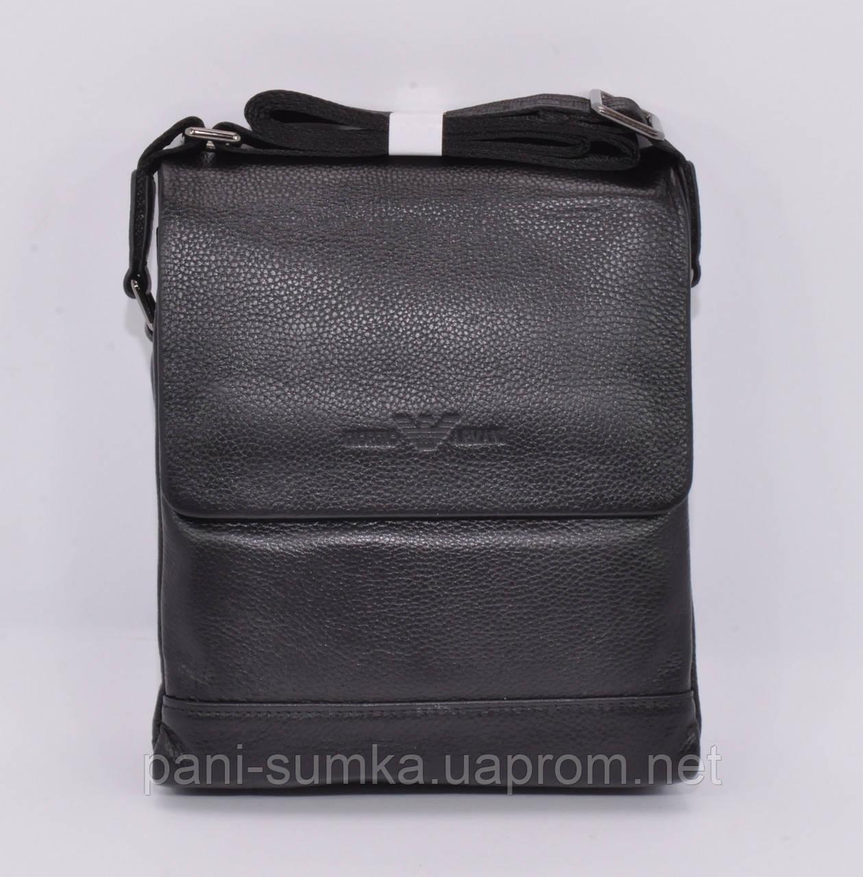 5b80076c9b63 сумка мужская кожаная Giorgio Armani 7911 1 черная цена 1 189 грн