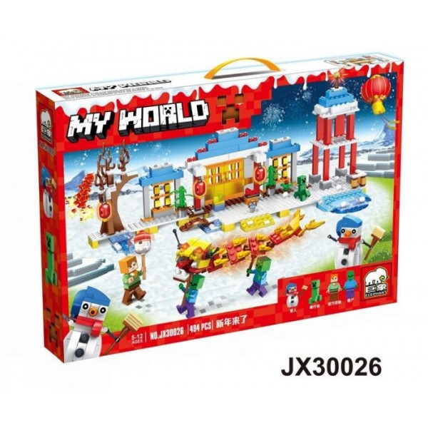 Конструктор Minecraft My World JX30026 (Майнкрафт), 494 дет