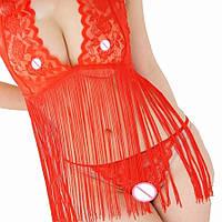 Женское эротическое белье красное 11139-б