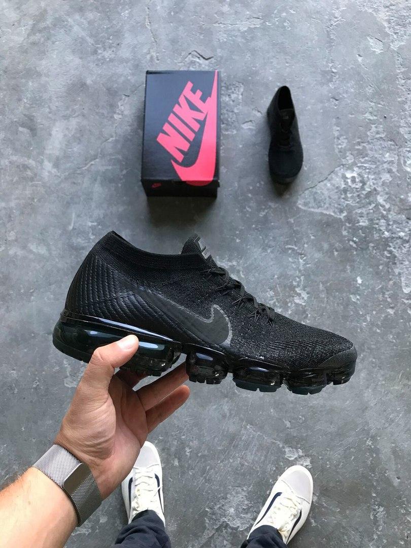 Кроссовки Nike VaporMax Black. Топ качество! (Реплика ААА+)