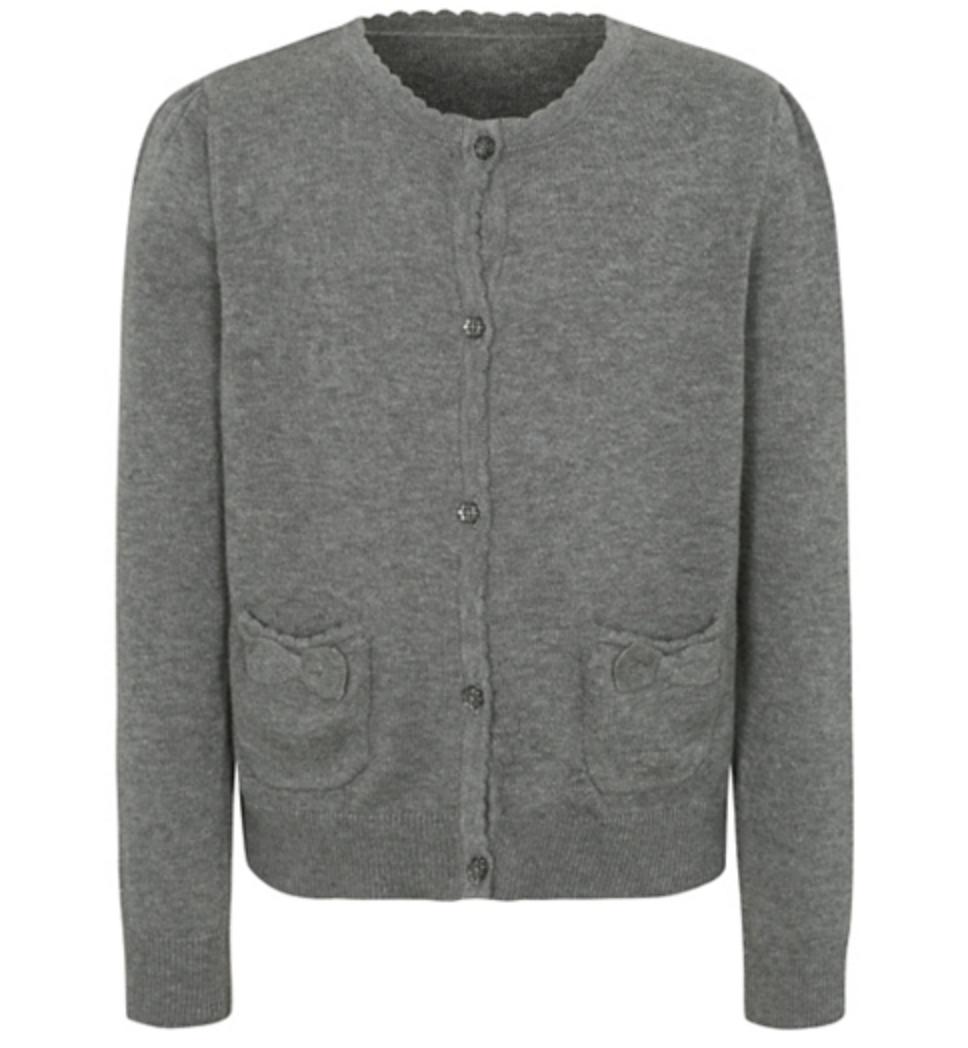 Школьная кофта серая с карманами на девочку 6-7 лет Grey George (Англия)