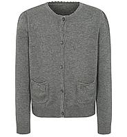 Школьная кофта серая с карманами на девочку 6-7 лет Grey George (Англия), фото 1