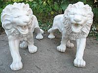 "Скульптура ""Пара львов"" (белый мрамор)"