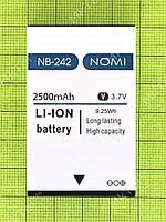 Аккумулятор NB-242 Nomi i242 X-treme 2500mAh Оригинал