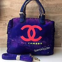 Женская стильная сумка Chanel Шанель текстильная