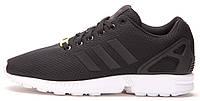 """Мужские кроссовки Adidas ZX Flux """"Black/White"""" (Адидас Флюкс) черные/белые"""