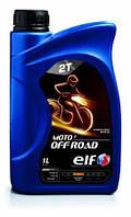 2T Мотоциклетное полусинтетическое масло для моторов мотоциклов и скутеров ELF MOTO 2T OFF ROAD (1л)