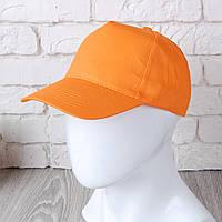 Оранжевая однотонная кепка на липучке (Комфорт)