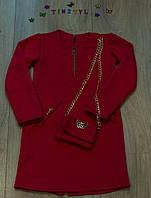Красивое платье для девочки с сумочкой рост 140 см, фото 1