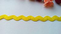 Тесьма волна - желтый