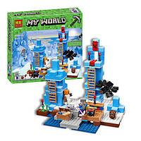 "Конструктор Minecraft (Майнкрафт) 10621 ""Ледяные шипы"" (аналог Lego Minecraft 21131), 460 дет"