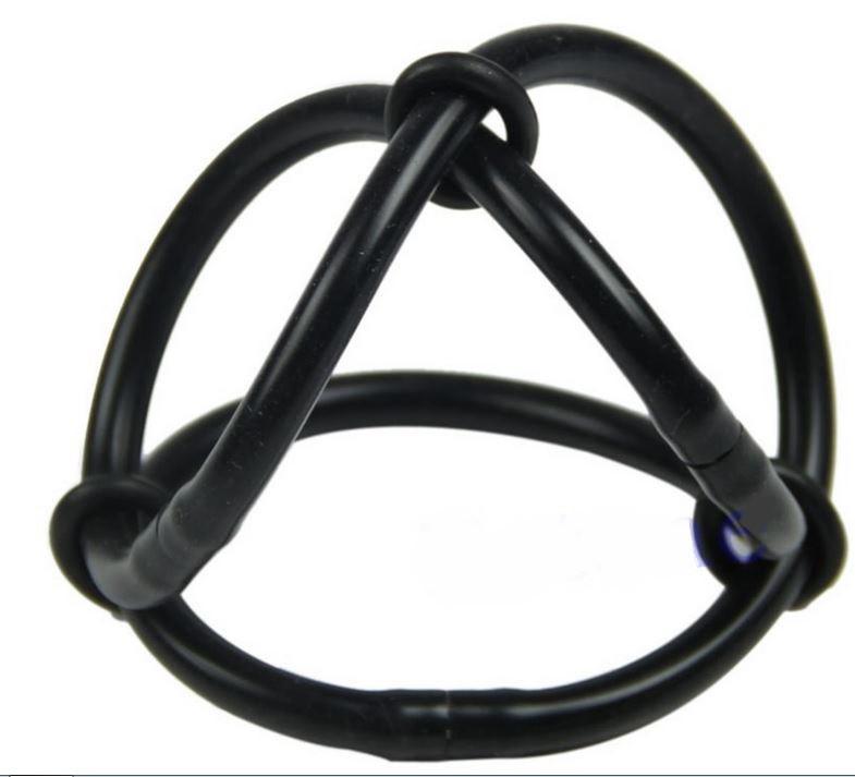 Силиконовые кольца на член и мошонку 3 в одном