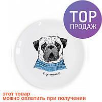 Тарелка Мопсик / Декорации для дома